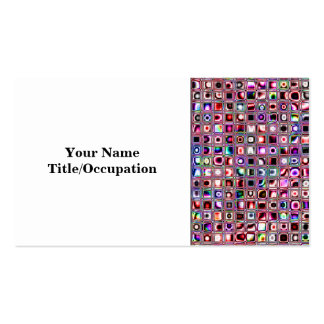 Ruby Red Bijoux Textured Mosaic Tiles Pattern Business Card Template