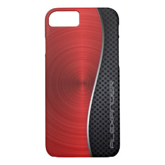 Ruby Red Brushed Metal / Favorite Colors iPhone 8/7 Case