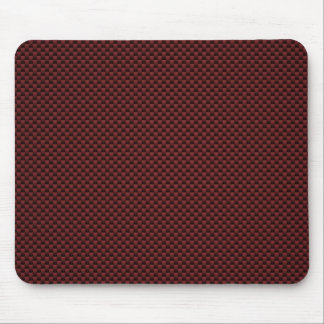 Ruby Red Carbon Fiber Style Print Decor Mouse Pad