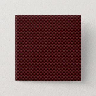 Ruby Red Carbon Fiber Style Print Decor Pinback Button