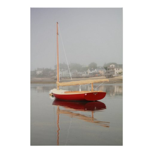 Ruby Red Catboat Poster