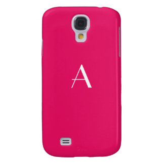 Ruby Red Color Monogram Samsung Galaxy S4 Covers