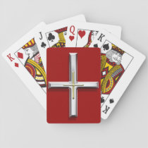 Ruby Red Cross Playing Card Deck