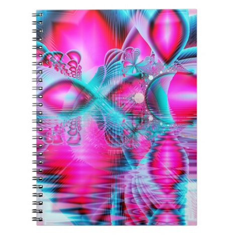 Ruby Red Crystal Palace, Abstract Jewels Notebook