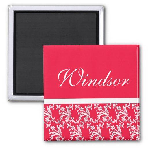 Ruby Red Custom Wedding Magnets