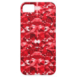 Ruby Red Diamonds iPhone 5 Cases