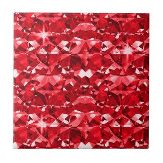 Ruby Red Diamonds Tiles