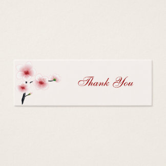 Ruby Red Flowers Thank You Tag