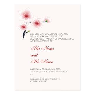 Ruby Red Flowers Wedding Invitation Card