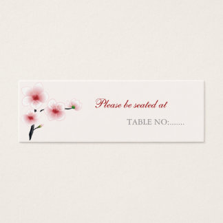Ruby Red Flowers Wedding / Party Table Place Card