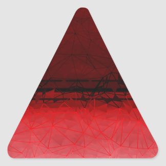 Ruby Red Geometrical Ombre Pattern Triangle Sticker