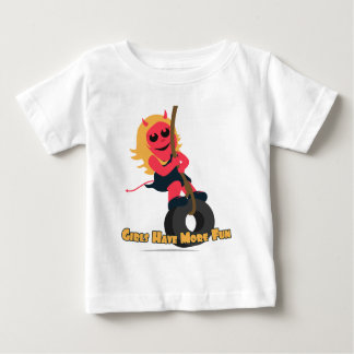 Ruby Red: Girls Have More Fun Baby T-Shirt