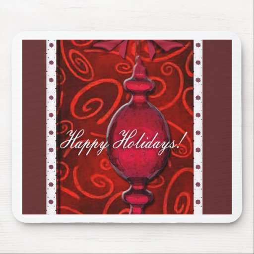 Ruby Red Glass Ornament Mouse Pad