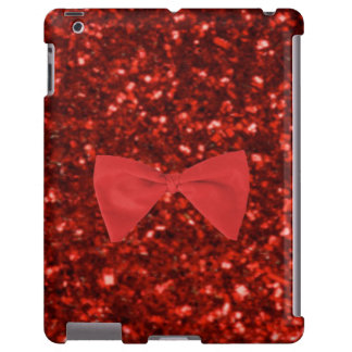 Ruby Red Glitter iPad Case