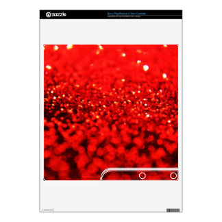 Ruby Red Glitter Skins Decal For PS3 Slim