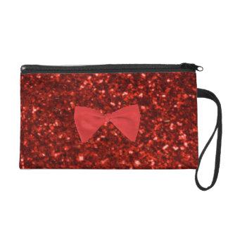 Ruby Red Glitter Wristlet