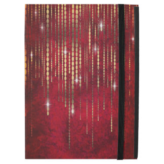 Ruby Red Gold Bead Strand Curtain Shimmer Romantic iPad Pro Case