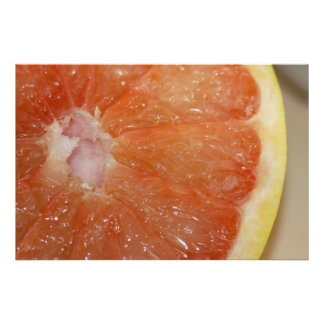 Ruby Red Grapefruit on Canvas, Version B Poster