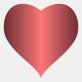 Ruby Red Heart Sticker