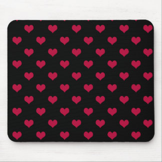 Ruby Red Hearts Mouse Pad