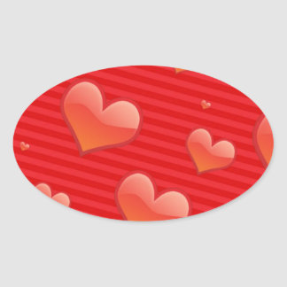 Ruby Red Hearts Stickers