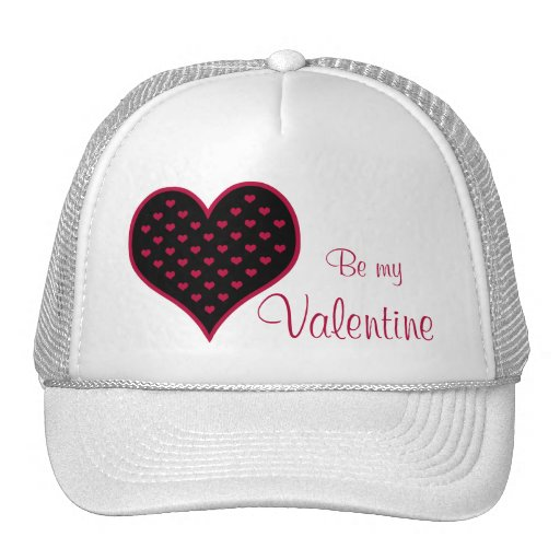 Ruby Red Hearts Valentine Mesh Hats