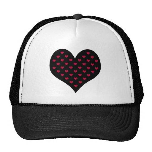 Ruby Red Hearts Valentine Mesh Hat