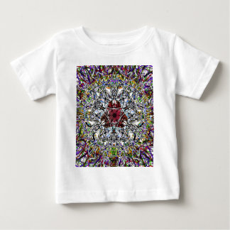 Ruby Red Jewel At The Heart Of A Mandala Baby T-Shirt