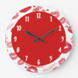 Ruby Red Lips Decorative Wall Clock