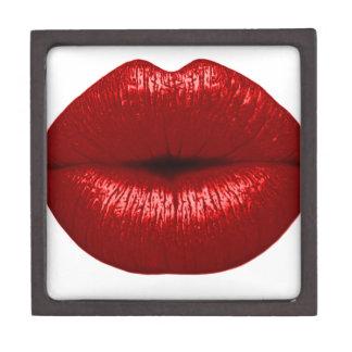 RUBY RED LIPSTICK MAKEUP BEAUTY FASHION SALON LIPS PREMIUM KEEPSAKE BOX