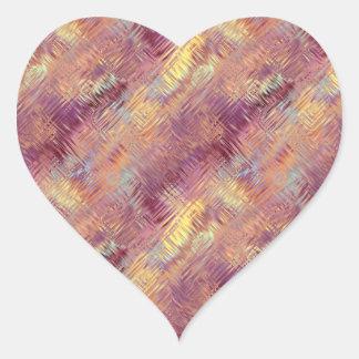 Ruby Red Liquid Pattern Heart Sticker