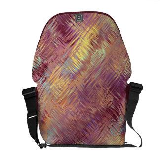 Ruby Red Liquid Pattern Messenger Bags