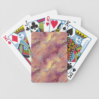 Ruby Red Liquid Pattern Bicycle Poker Deck