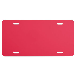 """""""Ruby Red"""" License Plate"""