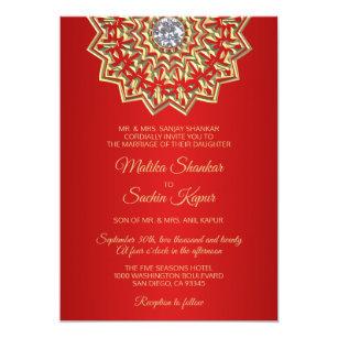 Indian Wedding Invitations Zazzle