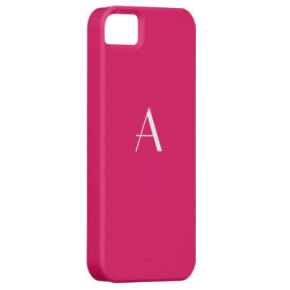 Ruby Red Monogram iPhone 5 Case