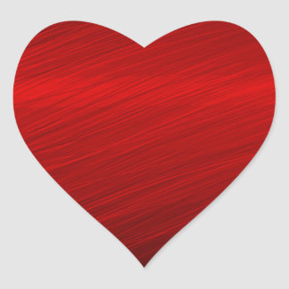 Ruby Red paper Heart Sticker