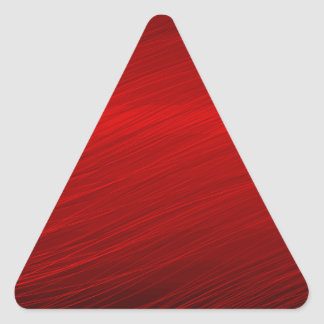 Ruby Red paper Triangle Sticker