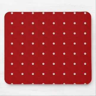 Ruby Red Pearl Stud Quilted Mouse Pad