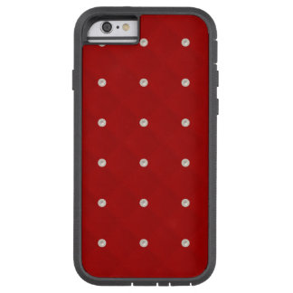 Ruby Red Pearl Stud Quilted Tough Xtreme iPhone 6 Case