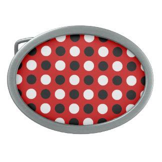Ruby Red Polka Dots Belt Buckle