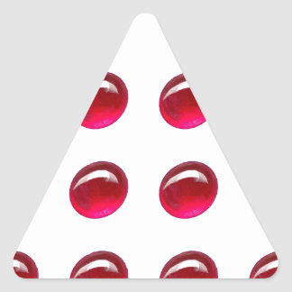 Ruby Red Polka-Dots Gifts by Sharles Triangle Sticker