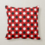 Ruby Red Polka Dots Pillow
