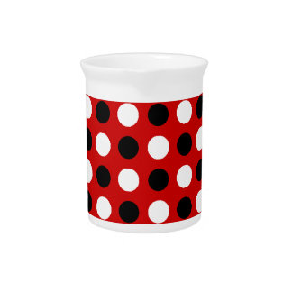 Ruby Red Polka Dots Pitcher