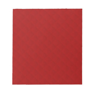 Ruby Red Quilted Leather Notepad