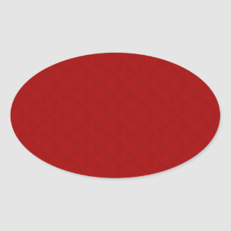 Ruby Red Quilted Leather Oval Sticker