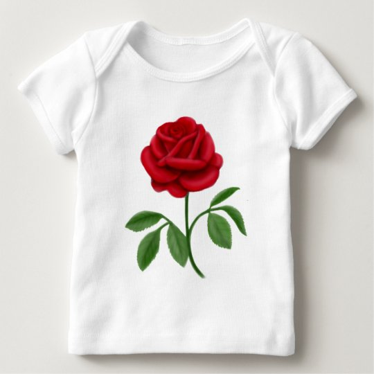 Ruby Red Rose Baby T-Shirt