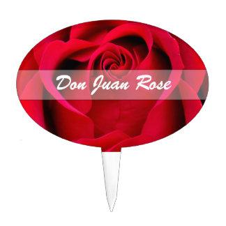 Ruby Red Rose Custom Plant Marker Cake Topper