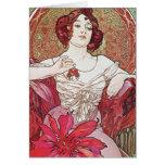 Ruby Red Rose Goddess Greeting Card