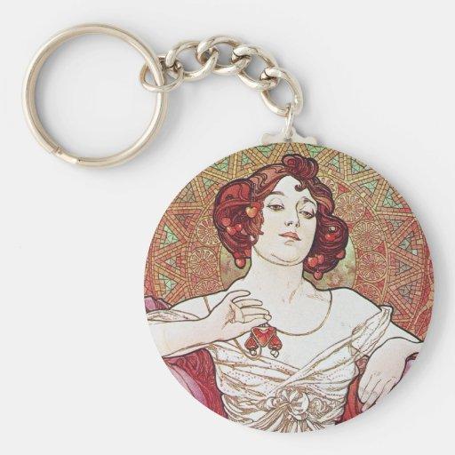 Ruby Red Rose Goddess Key Chains